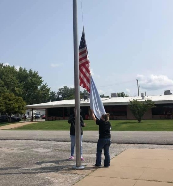 NHS Flag Raising